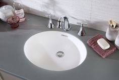 An integrated solid surface basin for a truly seamless look Basin, Furniture, Bathroom Furniture, Laminate, Solid Surface, Home Decor, Bathroom, Laminate Worktop