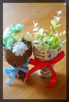 空きペットボトルで簡単!立てて飾れるミニブーケの作り方☆彡
