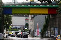 Streetart: Bridge in Wuppertal converted into LEGO-Bridge (6 Pictures)