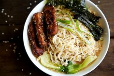 Sesame Ramen with Roasted Tempeh and Seaweed