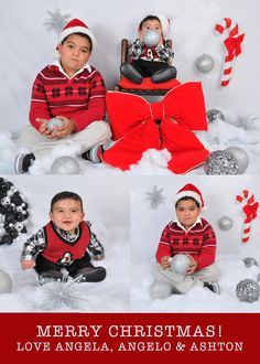 Christmas card photo idea. Cute backdrop. Brothers. Jesse Rinka Photography