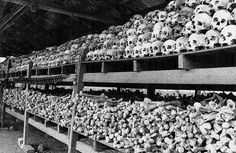 Genocide in Cambodia: an estimated 800,000 to three million people (out of a population of approximately seven million) died under Pol Pot's three-year premiership (1975-1979).