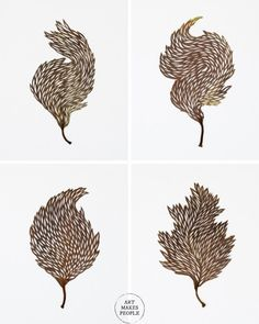 Intricately cut leaves by artist Hillary Waters Fayles Easy To Love, Contemporary Artists, Snake Skin, Amazing Art, Illustration Art, Water, Artwork, Leaves, Instagram