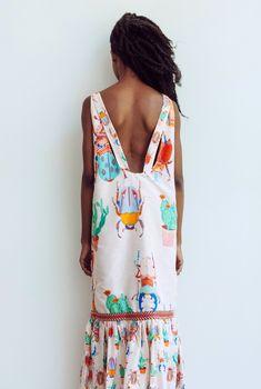 bright beetle pattern dress from caroline kauffman // via coco+kelley
