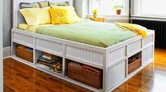 how to build a storage bed (it's easier than you think)