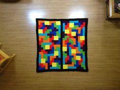 tetris crochet blanket, crochet tetrominoes, crochetbug, crochet squares, crochet blocks