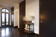 Entrance with Bod'or KTM doors - Design by Marcel Wolterinck - Residential - Doors: Le Trait Door Design, Exterior Design, House Design, Hallway Decorating, Innovation Design, Minimalist Design, Interior Architecture, Entryway Tables, Home Furniture