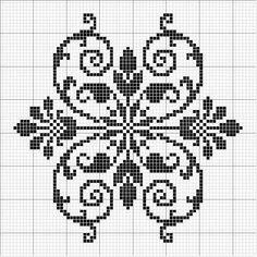 Crochet Border Stitch could be filet crochet pattern Cross Stitch Borders, Cross Stitch Flowers, Cross Stitch Charts, Cross Stitch Designs, Cross Stitching, Cross Stitch Embroidery, Embroidery Patterns, Cross Stitch Patterns, Crochet Chart
