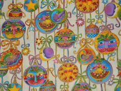 Laurel Burch Bountiful Blessings Christmas fabric material.