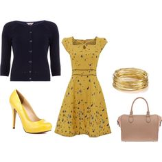 blue and yellow by elizabeth-mauch-bergeron on Polyvore