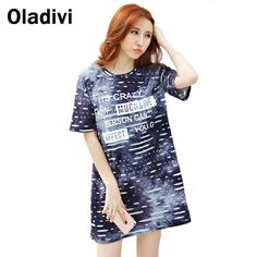 Find More T-Shirts Information about Fashion Flower Printing Women Long T Shirt…