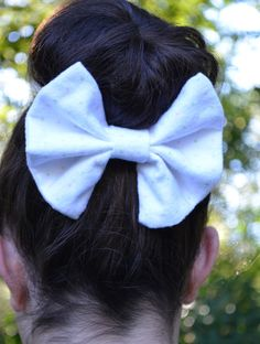 Sock bun bow with FREE SHIPPING by TheSweetBeanBoutique, $6.00