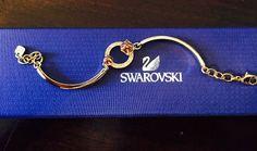Authentic Swarovski Geometric Violet Bangle Bracelet- Gold Tone