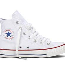 Converse Chuck Taylor All Star Canvas HI-Top Trainers, White. CTAS Hi