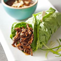 Low Carb Asian Lettuce Wraps - Slow Cooker