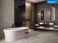 HYPER is the cement-look porcelain stoneware collection inspired by the concrete blocks used in industrial building Wall And Floor Tiles, Wall Tiles, Bathroom Wall, Modern Bathroom, Lavabo D Angle, Marble Effect, Concrete Blocks, Bath Design, Bathroom Interior Design