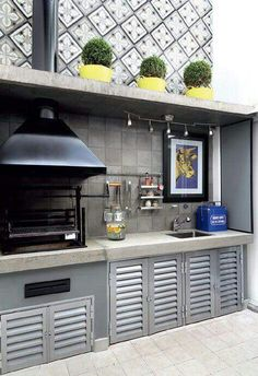 Basic Kitchen Area Concepts For Inside or Outside Kitchen areas – Outdoor Kitchen Designs Parrilla Exterior, Fire Pit Backyard, Backyard Seating, Outdoor Kitchen Design, Outdoor Kitchens, Outdoor Living, Outdoor Decor, Cuisines Design, Kitchen Layout
