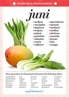 Do you not know which fruit and vegetables are best placed on the table in June if you have an environmental . Clean Eating Recipes, Healthy Recipes, I Want Food, Fodmap Recipes, Happy Foods, Food Facts, Fruits And Vegetables, Superfood, Vegetable Recipes