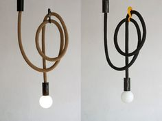 Hook Line Lamp / Rope light by PaniJurek on Etsy Industrial Design, Lights, Home Decor, Lightning, Archive, Polish, Architecture, Fall, Etsy