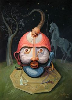 Stare at Oleg Shuplyak's painting, you may find one more illusion element that is hiding inside! Shared Stunning Illusion Paintings by Oleg Shuplyak here. Optical Illusion Paintings, Optical Illusions, Face Illusions, Oleg Shuplyak, Famous Historical Figures, Street Art, Hidden Images, Hidden Figures, Charles Darwin