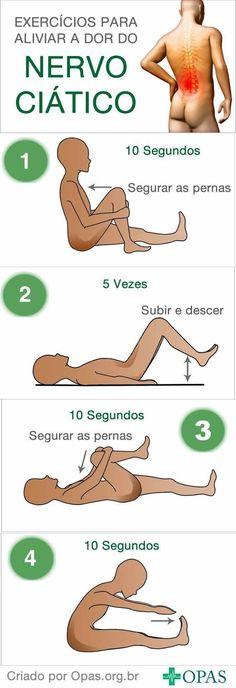 Infográfico Aliviando as Dores do Nervo Ciático #ciatico