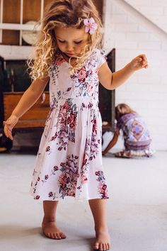 Meika Birthday Dress Meika Rose White - Arnhem Clothing-floral girls dress. little girls boho style so cute