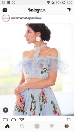 6 Indian Blouse Designs That Make For Perfect Bridal Inspiration For You, Straight Off The Runway Dress Indian Style, Indian Dresses, Indian Outfits, Indian Wear, Crop Top Designs, Fancy Blouse Designs, Lehenga Designs, Saree Blouse Designs, Indian Blouse Designs