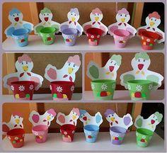 Πασχαλινά καλάθια γλάστρες Easter Crafts, Planter Pots, Spring, Bricolage Noel, Easter Activities