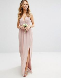 TFNC WEDDING Pleated Maxi Dress With Back Detail ASOS