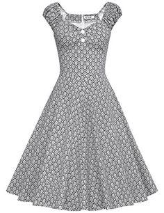 270a7cd3f5d MUXXN® Women s 1950s Style Vintage Swing Party Dress