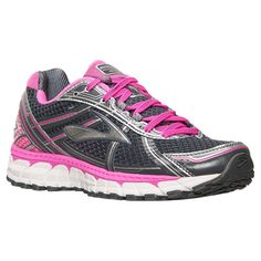 Women's Brooks Adrenaline GTS 15 Running Shoes| Finish Line | Magenta/Charcoal/Silver
