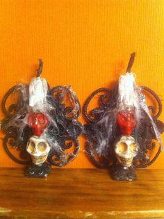 Barbie or Dollhouse Miniature Spooky Skull Wall Sconces by PieraArt 1:12 or 1:6 #PieraArt