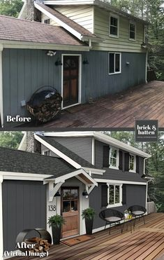 House Design, Exterior House Renovation, House Front, Flipping Houses, Home Exterior Makeover, Best Front Doors, Exterior Design, House Painting, House Paint Exterior
