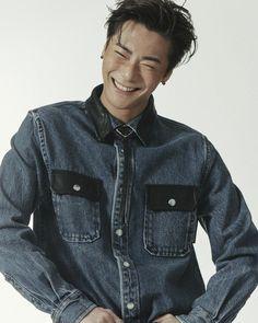 Astro Kpop Group, Denim Button Up, Button Up Shirts, Park Jin Woo, Asia, Vogue Korea, Vogue Magazine, Pretty And Cute, Cute Guys