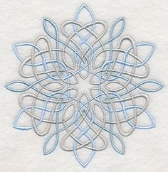 Celtic Snowflake design (L8952) from www.Emblibrary.com