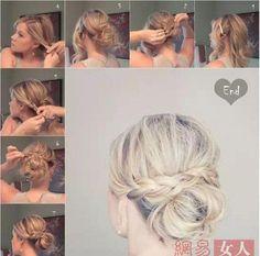 Hướng dẫn tạo các kiểu tóc tết búi đẹp cho bạn gái 21
