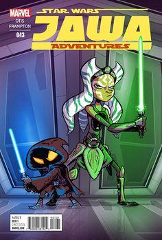Jawa Adventures 043 by OtisFrampton on DeviantArt Star Wars Cartoon, Star Wars Comics, Star Wars Humor, A Comics, Star Wars Drawings, Star Wars Pictures, Star Wars Baby, Comic Book Covers, Fantasy Creatures
