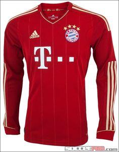 adidas Bayern Munich Long Sleeve Home Jersey 2011-2012...$76.49