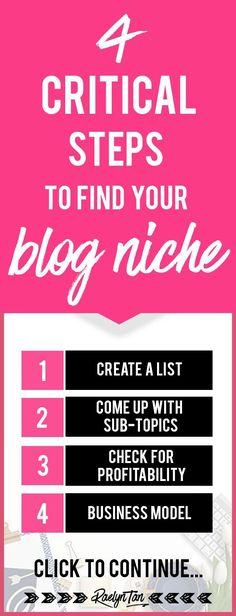4 Critical Steps to Find Your dream Niche Make Money Blogging, How To Make Money, Saving Money, Software, Online Blog, Online Entrepreneur, Blogger Tips, Blogging For Beginners, How To Start A Blog
