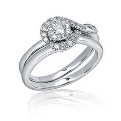 one of my top picks!! Zales: 1/3 CT. T.W. Diamond Knot Bridal Set in 10K White Gold