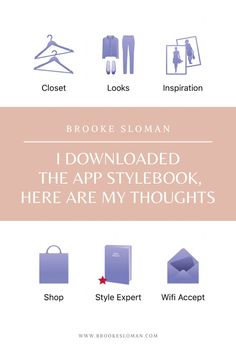 I have to say, when I came across this app, I was very excited to say the least. I felt like Cher in Clueless where I would be pushing a button and letting the computer choose an outfit for me. Now StyleBook is not quite like this, but if you're anything like me, then when you buy something, you're immediate thoughts are how am I going to style this and I need to write it down immediately so I don't forget!