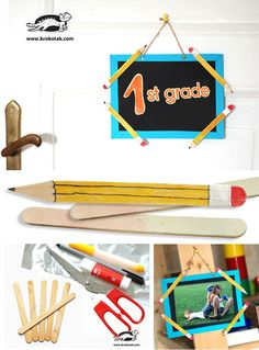 Decoration pencils from ice cream sticks