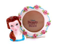 Vintage Beauty & The Beast Belle Porcelain Ceramic Photo Frame Picture Frame Disney Sculpted Figurine Figure Disneyana Original Malaysia Rainbow Brite, Cabbage Patch Kids, Disney Beauty And The Beast, Photo Picture Frames, Jar Lamp, Porcelain Ceramics, Vintage Beauty, Vintage Toys, My Little Pony