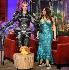 """Jane Lynch dressed as Sergeant Calhoun, the character she voices in Walt Disney Animation Studios' """"Wreck-It Ralph"""" when she appeared on """"Ellen"""" earlier this week for the Halloween edition of this popular daytime talk show."""