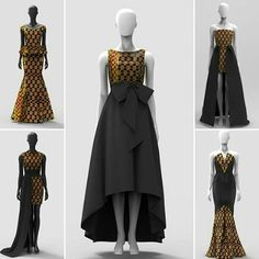 heck out our Kente Inspired Occasionwear/Bridal Party Collection. Getting Married then let Styles Afrik design your bridal party African Print Dresses, African Print Fashion, African Fashion Dresses, African Dress, Fashion Prints, Fashion Design, African Attire, African Wear, African Women