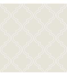 WallPops®NuWallpaper™ Taupe Quatrefoil Peel And Stick Wallpapernull