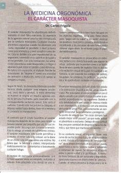 Compartir-WilhelmReich: LA MEDICINA ORGONÓMICA-EL CARÁCTER MASOQUISTA