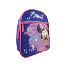 Minnie Mouse rugzak Smile 29 cm voor kinderen. Materiaal: nylon. De afmetingen van deze rugzak zijn ongeveer 29 x 20 x 8 cm.
