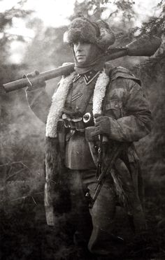 German SS with Panzerfaust on eastern front