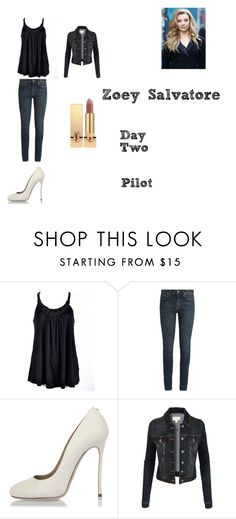 """""""Zoey Salvatore Worlds Colliding (The Vampire Diaries) 1.01 """"Pilot"""""""" by jdefloria on Polyvore featuring Ally Fashion, Yves Saint Laurent, Dsquared2 and LE3NO"""